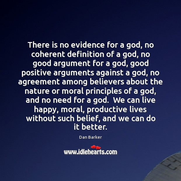 Image, There is no evidence for a god, no coherent definition of a