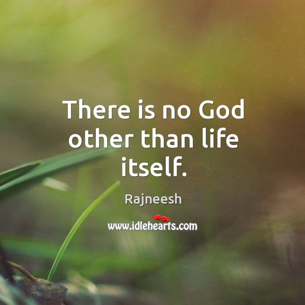 There is no God other than life itself. Image