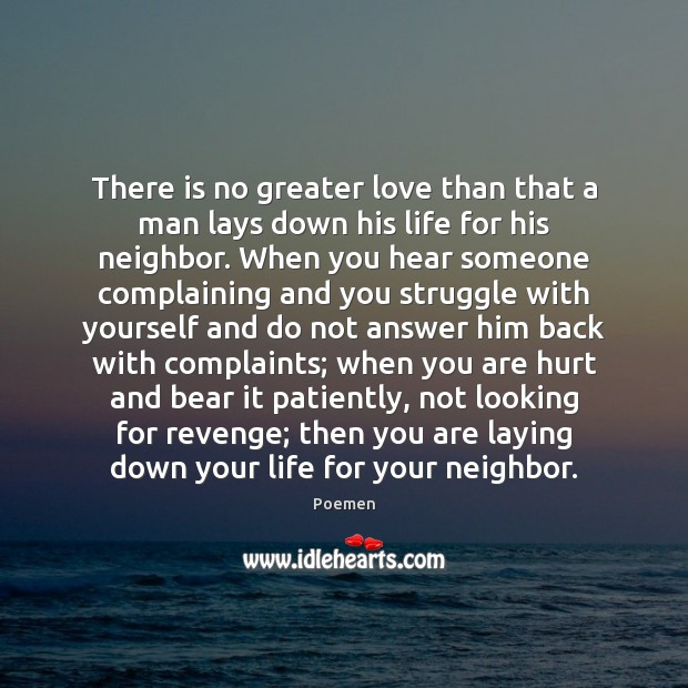 There is no greater love than that a man lays down his Image