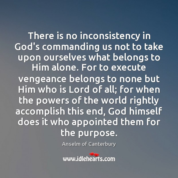 Image, There is no inconsistency in God's commanding us not to take upon