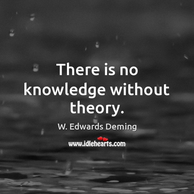 There is no knowledge without theory. W. Edwards Deming Picture Quote