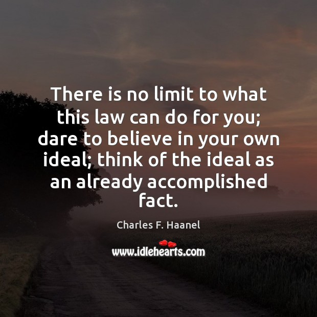 Image, There is no limit to what this law can do for you;