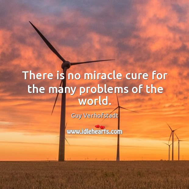 There is no miracle cure for the many problems of the world. Image