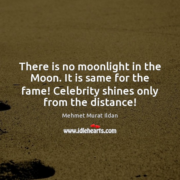 Image, There is no moonlight in the Moon. It is same for the