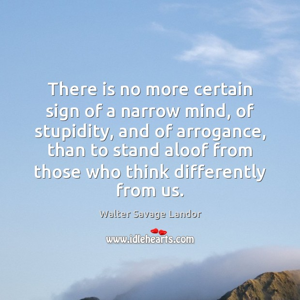 There is no more certain sign of a narrow mind, of stupidity, Image