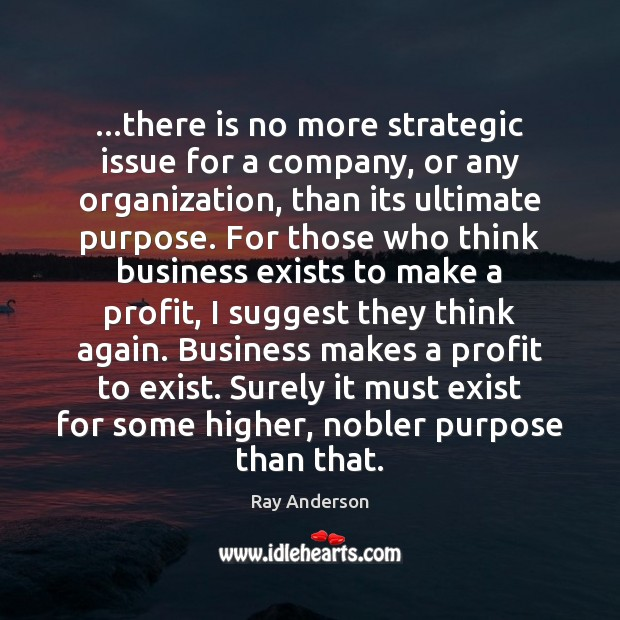 …there is no more strategic issue for a company, or any organization, Image