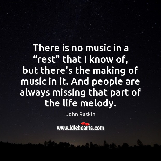 "Image, There is no music in a ""rest"" that I know of, but"