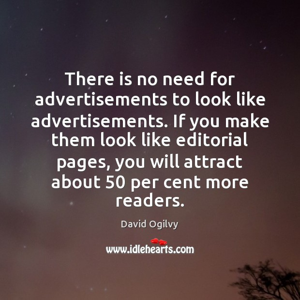 Image, There is no need for advertisements to look like advertisements. If you
