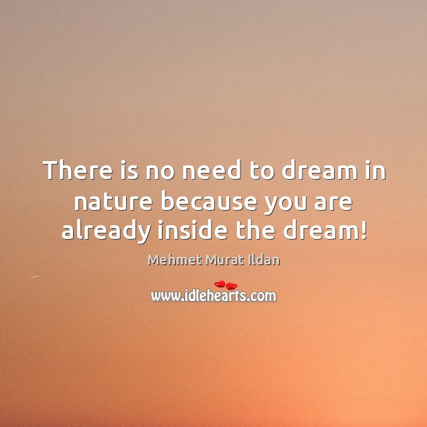Image, There is no need to dream in nature because you are already inside the dream!