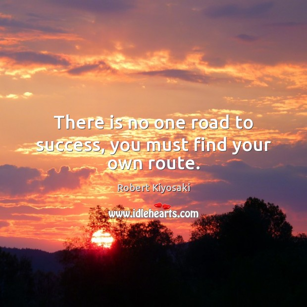 There is no one road to success, you must find your own route. Image