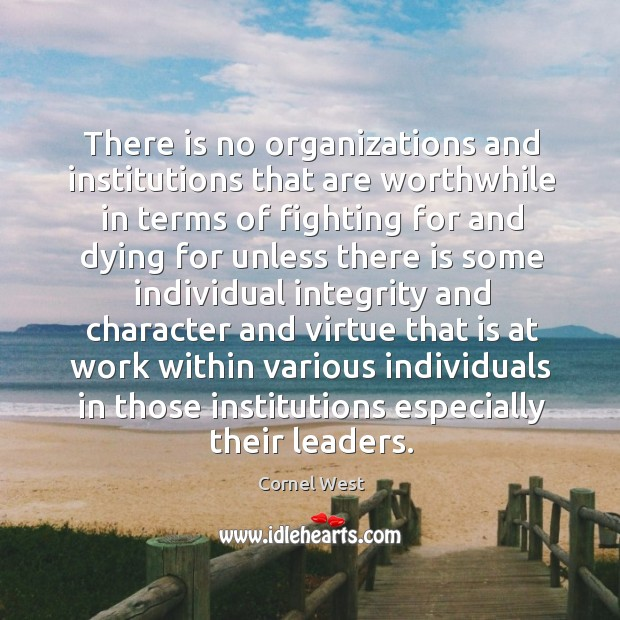 Image, There is no organizations and institutions that are worthwhile in terms of