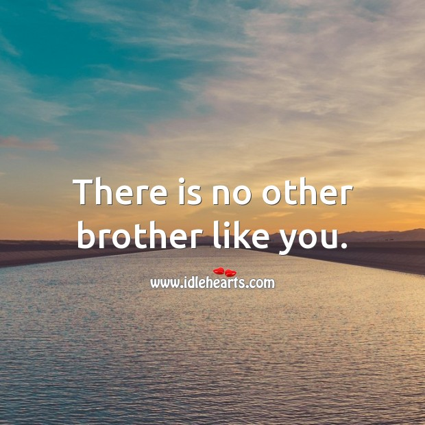 There is no other brother like you. Birthday Messages for Brother Image