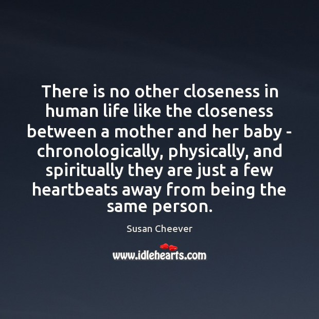 There is no other closeness in human life like the closeness between Susan Cheever Picture Quote