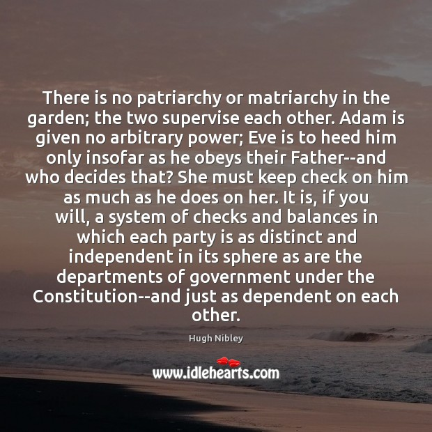 Image, There is no patriarchy or matriarchy in the garden; the two supervise