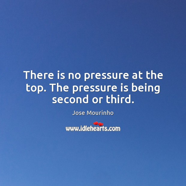 There is no pressure at the top. The pressure is being second or third. Image