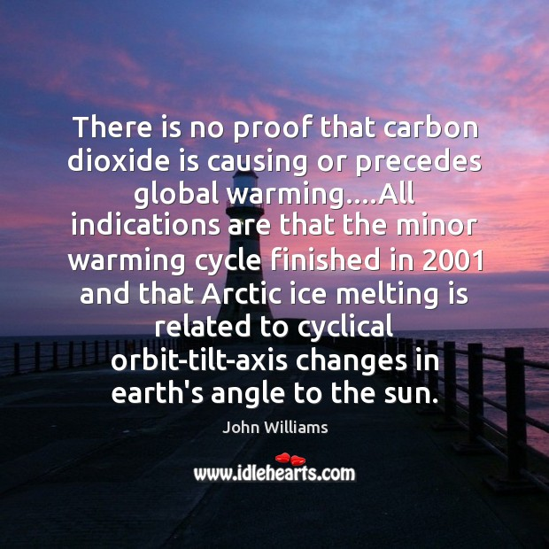 Image, There is no proof that carbon dioxide is causing or precedes global