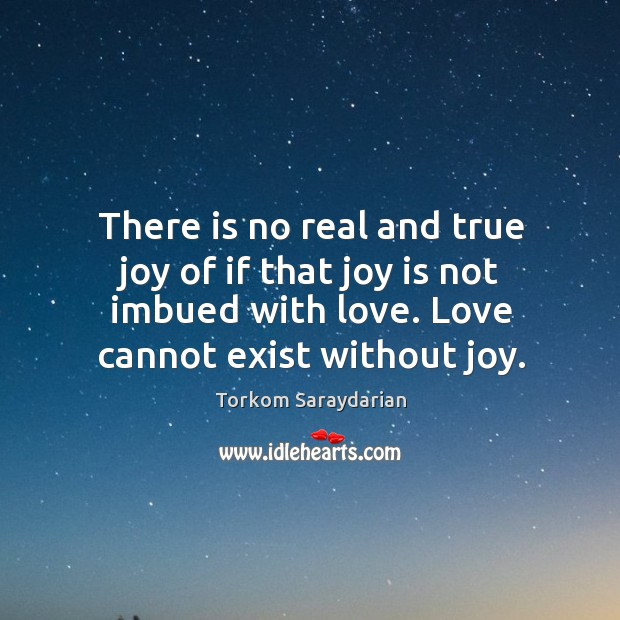 There is no real and true joy of if that joy is True Joy Quotes Image