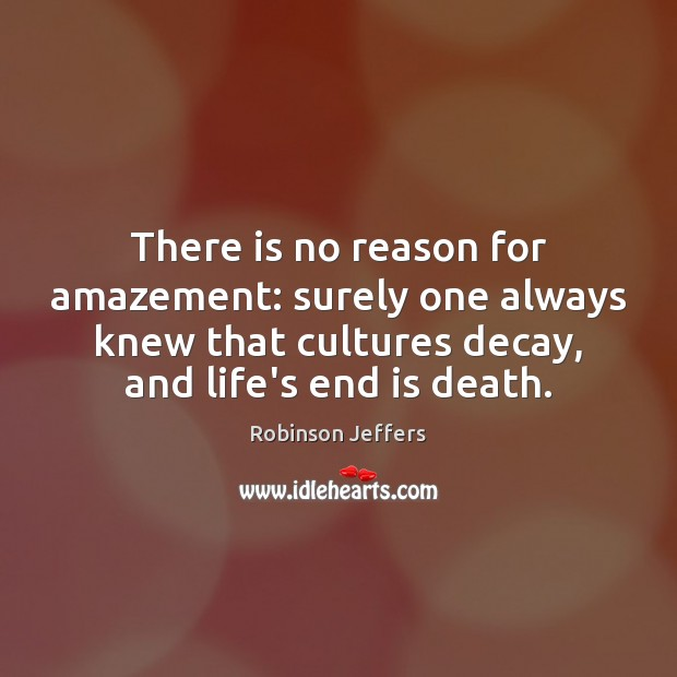 Image, There is no reason for amazement: surely one always knew that cultures