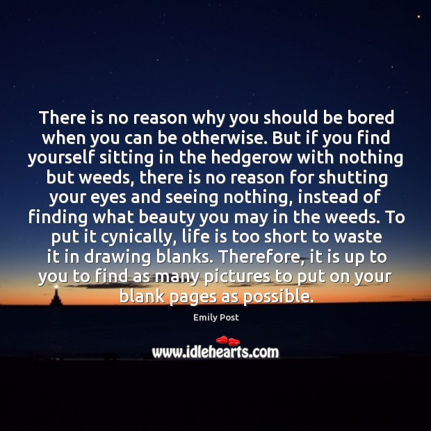Image, There is no reason why you should be bored when you can