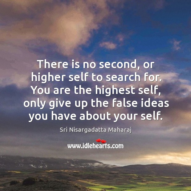 There is no second, or higher self to search for. You are Image