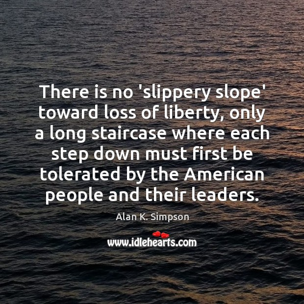 Image, There is no 'slippery slope' toward loss of liberty, only a long