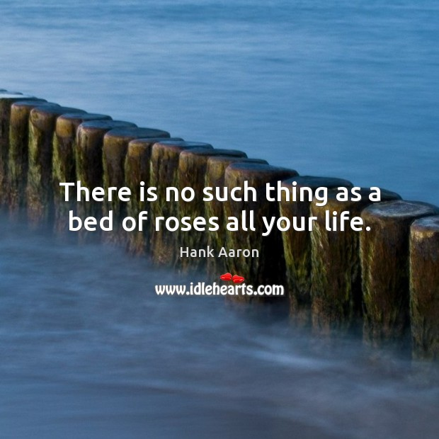Image, There is no such thing as a bed of roses all your life.