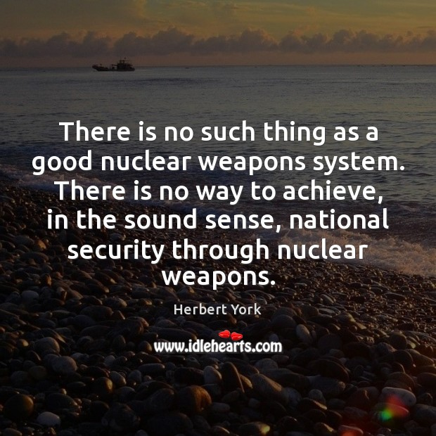 Image, There is no such thing as a good nuclear weapons system. There