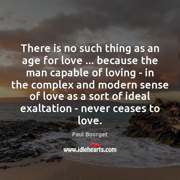 There is no such thing as an age for love … because the Image