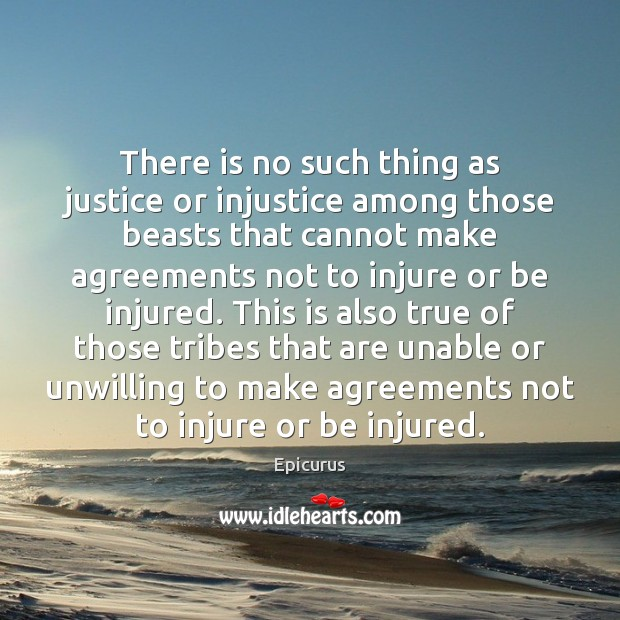 Image, There is no such thing as justice or injustice among those beasts