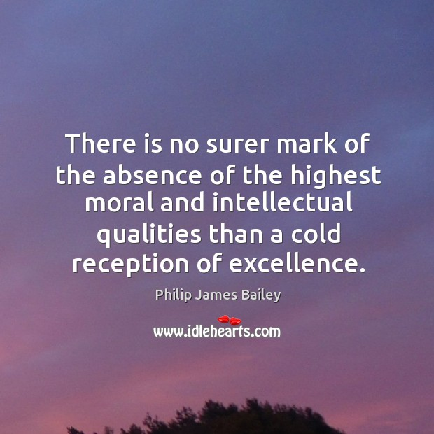 There is no surer mark of the absence of the highest moral and intellectual qualities Image
