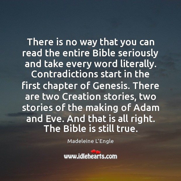 Image, There is no way that you can read the entire Bible seriously