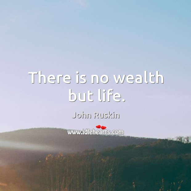 Image, There is no wealth but life.