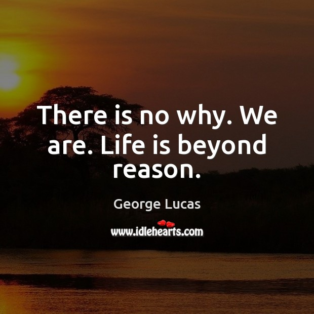 Image, There is no why. We are. Life is beyond reason.