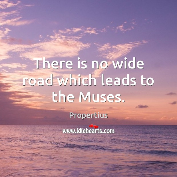 There is no wide road which leads to the Muses. Image