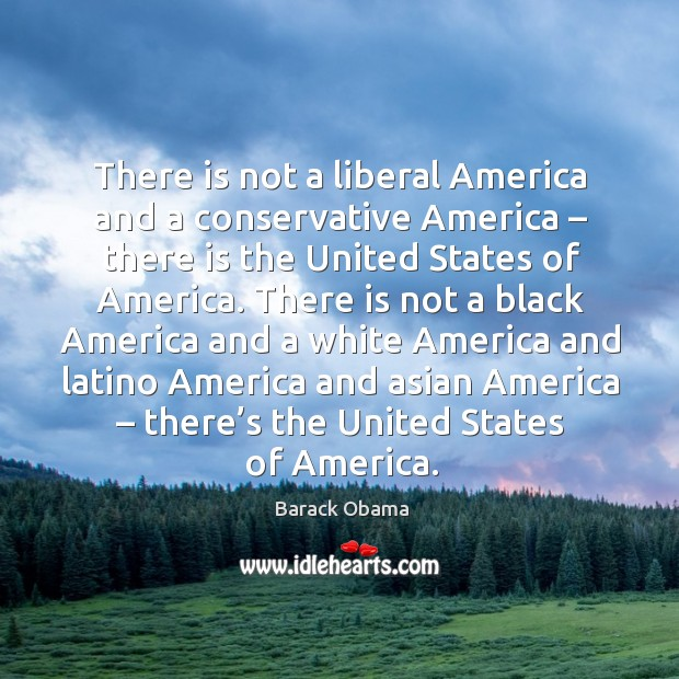 There is not a liberal america and a conservative america – there is the Image