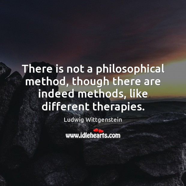 There is not a philosophical method, though there are indeed methods, like Image