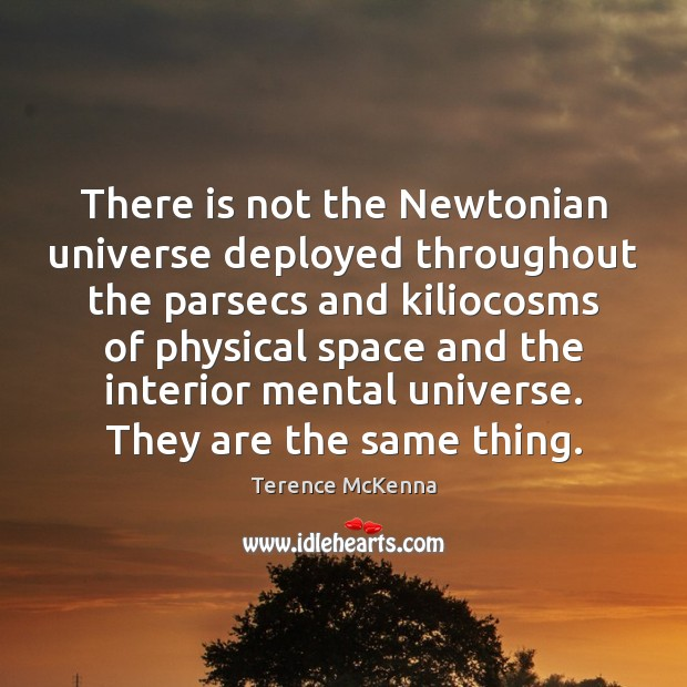 Image, There is not the Newtonian universe deployed throughout the parsecs and kiliocosms