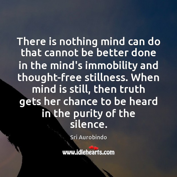 There is nothing mind can do that cannot be better done in Sri Aurobindo Picture Quote