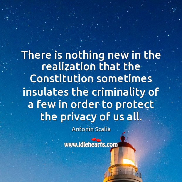 There is nothing new in the realization that the Constitution sometimes insulates Image