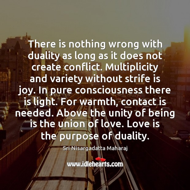 There is nothing wrong with duality as long as it does not Sri Nisargadatta Maharaj Picture Quote