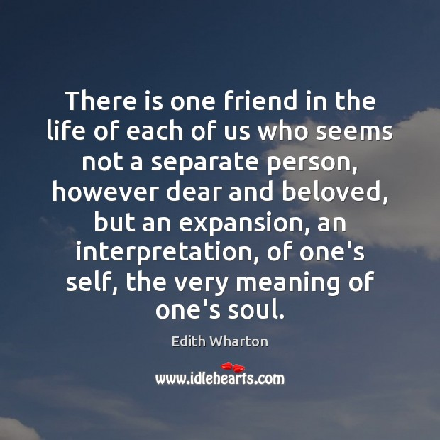 Image, There is one friend in the life of each of us who