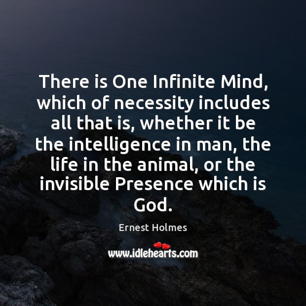 Image, There is One Infinite Mind, which of necessity includes all that is,