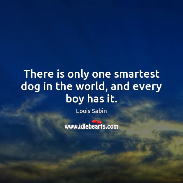 Image, There is only one smartest dog in the world, and every boy has it.
