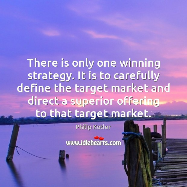 There is only one winning strategy. It is to carefully define the Image