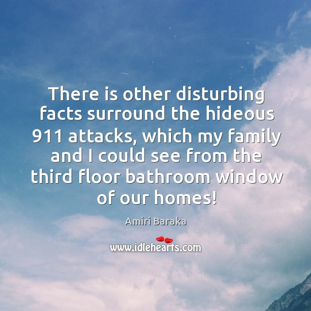 There is other disturbing facts surround the hideous 911 attacks, which my family and I could Image