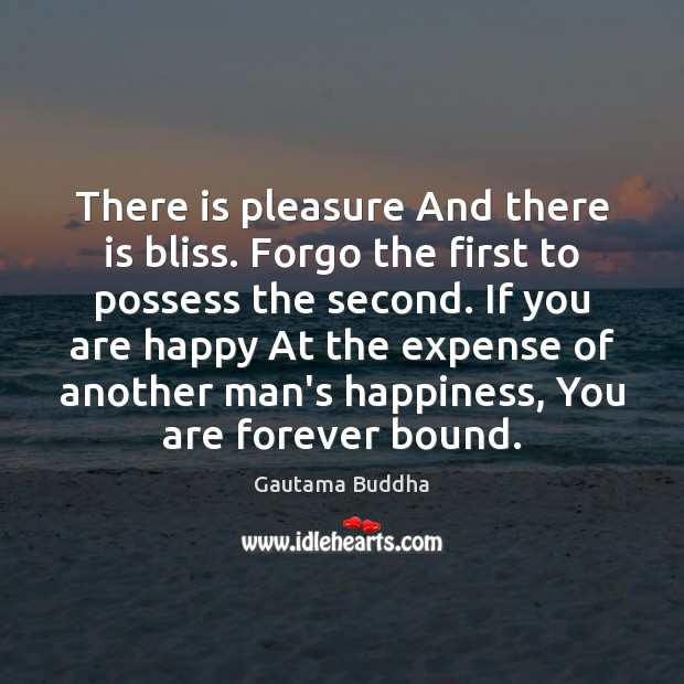 There is pleasure And there is bliss. Forgo the first to possess Image