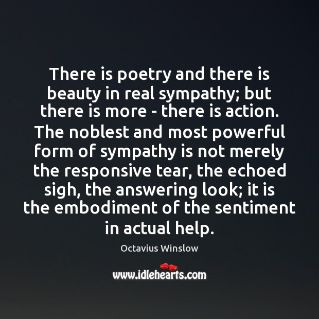 Image, There is poetry and there is beauty in real sympathy; but there