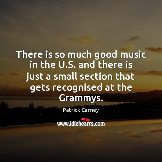 Image, There is so much good music in the U.S. and there