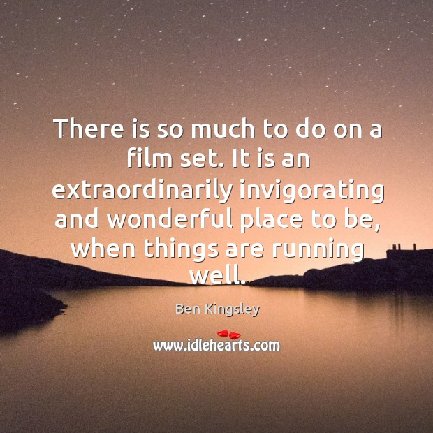 There is so much to do on a film set. Image
