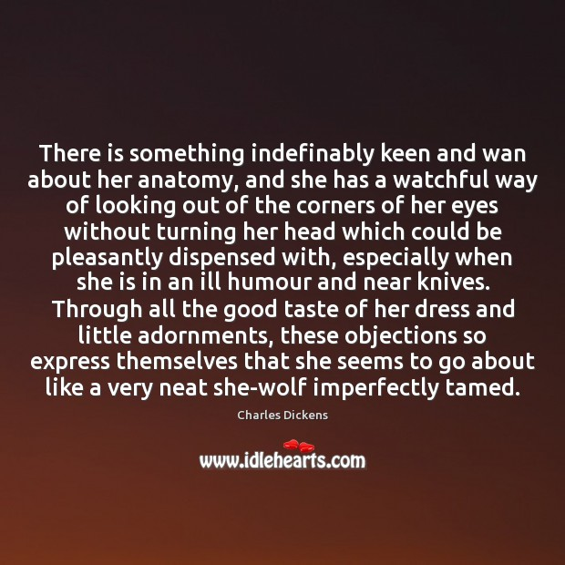 Image, There is something indefinably keen and wan about her anatomy, and she